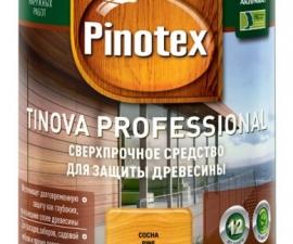 Pinotex Tinova Средство для защиты древесины (бесцветная база под колеровку)