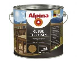 ALPINA OL FUR TERRASEN масло для террас прозрачное колеруемое