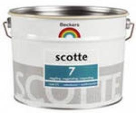 Beckers Scotte 7 водоэмульсионная латексная матовая краска, предназначенная для окрашивания стен и потолков