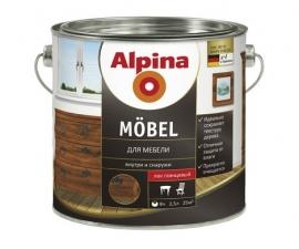ALPINA MOEBEL GL лак для мебели, глянцевый