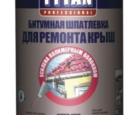 TYTAN PROFESSIONAL битумная шпатлёвка для ремонта крыш (стоп вода)