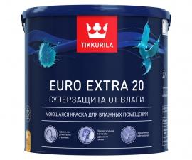 Tikkurila Euro Extra 20 / Краска моющаяся для влажных помещений база C / Тиккурила Евро Экстра 20