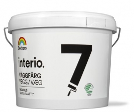 Beckers Interio Vaggfarg 07 / Моющаяся краска для потолков и стен / Беккерс Интерио Ваггфарг 07