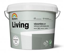 Beckers Living Vaggfarg 07 / Матовая краска для стен и потолков / Беккерс Ливинг Ваггфарг 07
