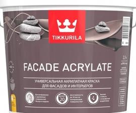 Tikkurila Facade Acrylate / Акрилатная краска для фасадов и интерьеров база C / Тиккурила Фасад Акрилат