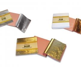 Borma / Поталь золотая, серебряная, медная, 14х14, 25 листов / Борма
