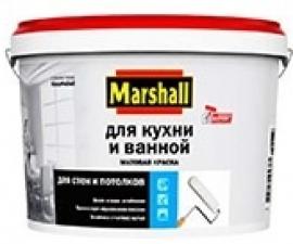 Marshall Для Кухни и Ванной Матовая краска повышенной влагостойкости для стен  и потолков, база BC